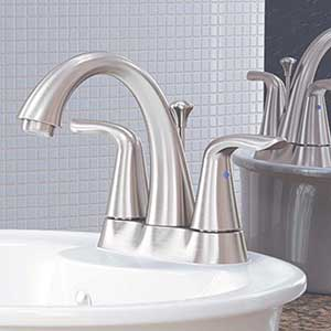 Artis Two Handle Centerset Brushed Nickel Bathroom Faucet